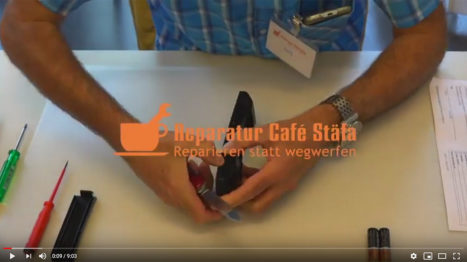 Youtube Film Reparatur Cafe Staefa